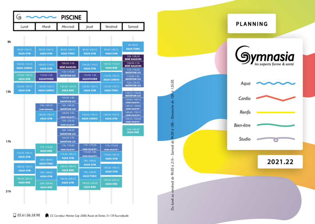 planning piscine tnf